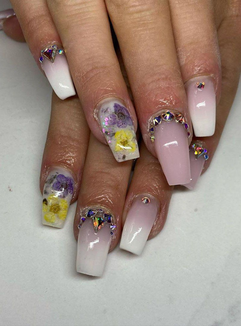 55 Stylish Milk Bath Nails for Spring You Must Try