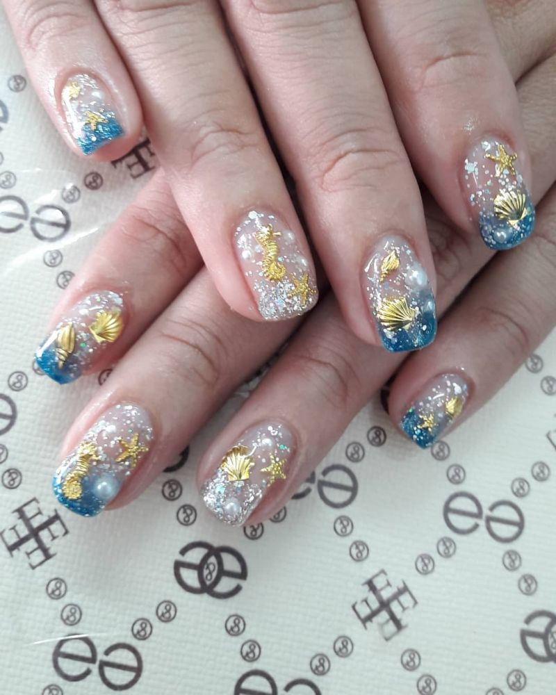 50 Elegant Sea Nail Art Designs You Have to Try