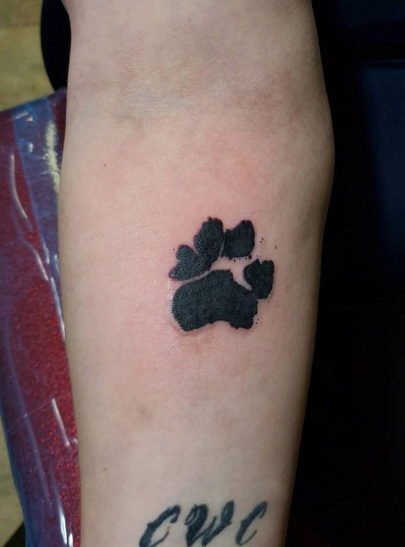 50 Awesome Paw Print Tattoos You Must Try