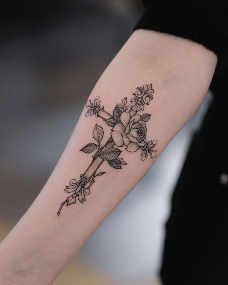 55 Awesome Cross Tattoos to Inspire You