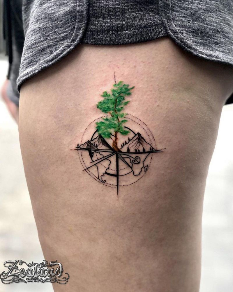 50 Pretty Compass Tattoos Give You Directions