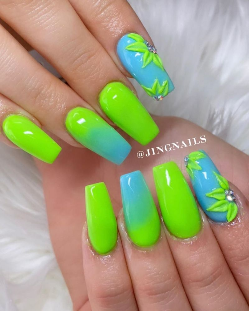30 Trendy Blue Nails for Summer You Must Try