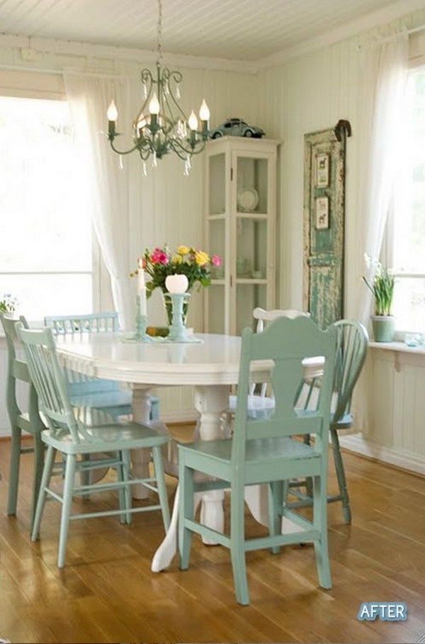 52 Shabby Chic Dining Room Ideas Awesome Tables Chairs And