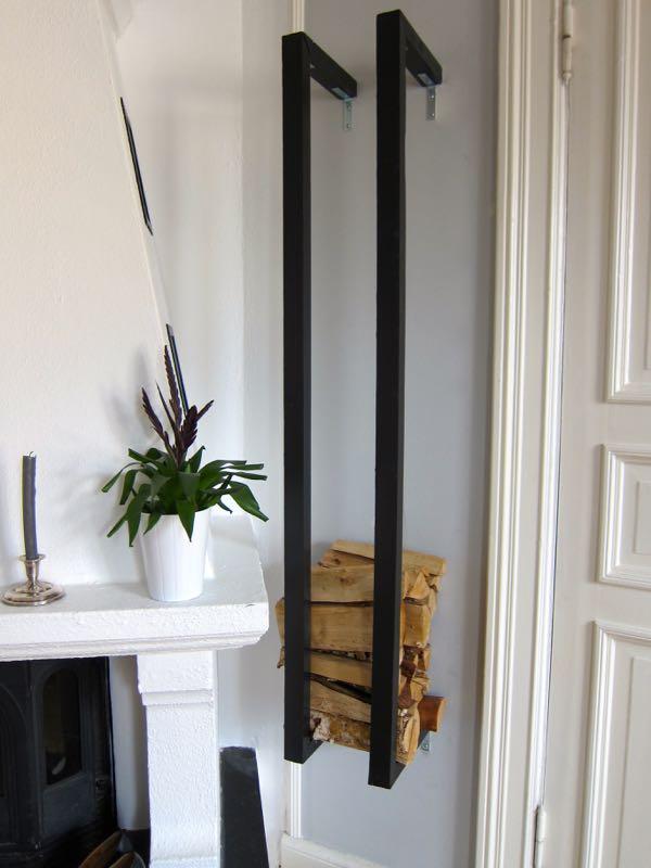 Wall Mounted Log Holder 18 Best Diy Firewood Storage Ideas