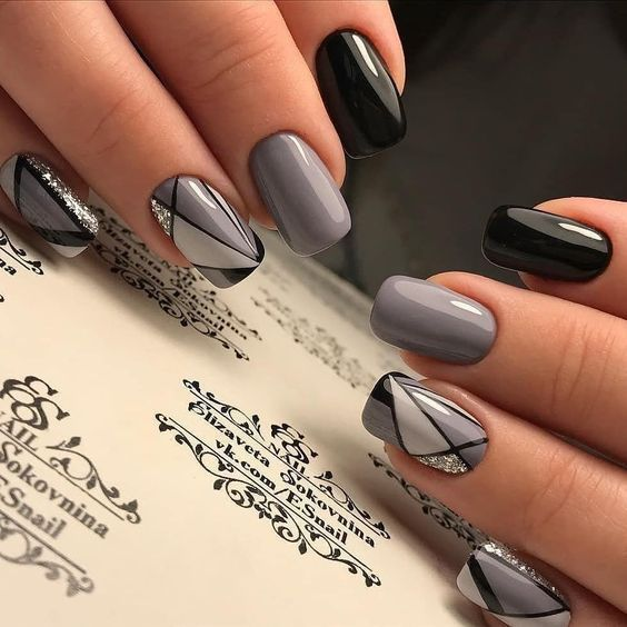 53 Elegant Grey Nails Art Designs And Ideas Page 35 Tiger Feng
