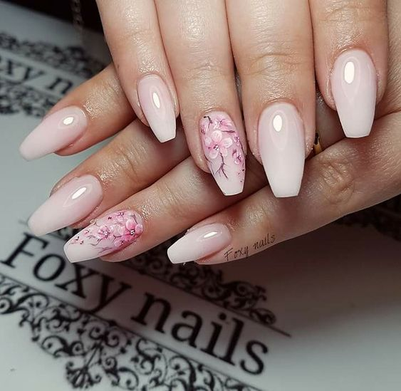 53 Awesome Cherry Blossom Nail Art Designs And Ideas Page 16 Tiger Feng