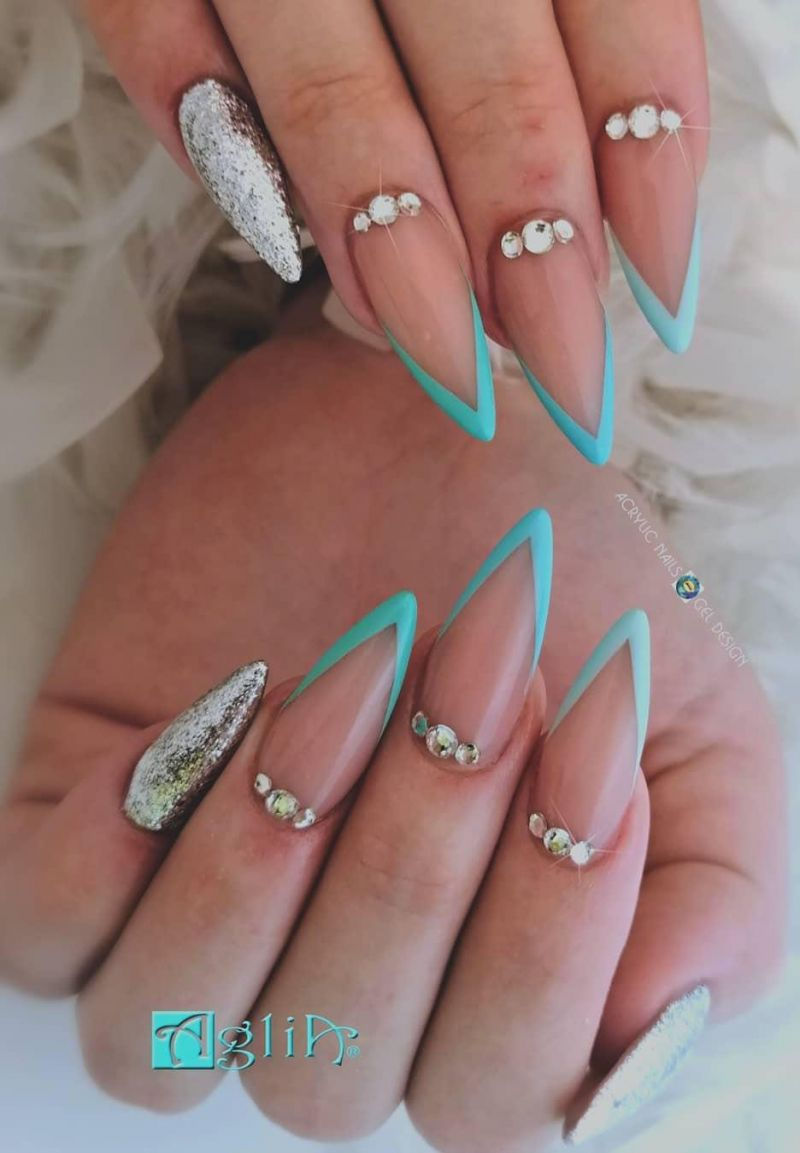 45 Trendy French Tip Nails For Spring You Must Try Tiger Feng